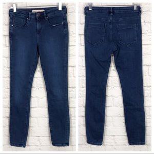 ASOS High Rise Medium Wash Stretch Skinny Jeans 26